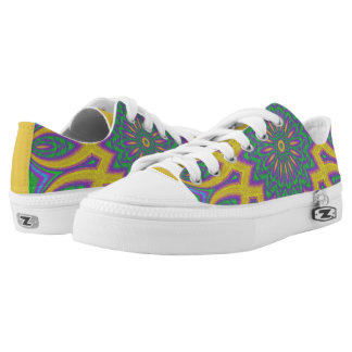 Vibrant Mandala Low-Top Sneakers