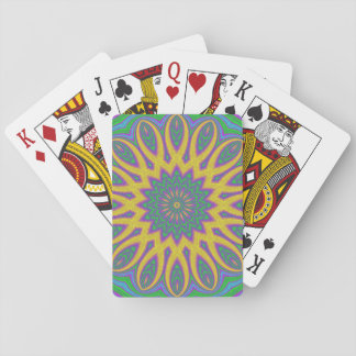 Vibrant Mandala Playing Cards