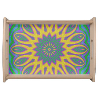 Vibrant Mandala Serving Tray
