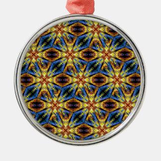 Vibrant Medieval Check Silver-Colored Round Ornament