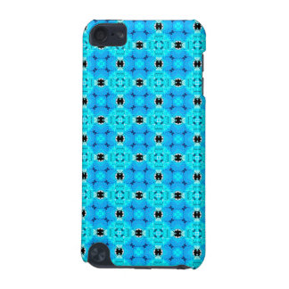Vibrant Modern Abstract Lattice Aqua Blue Quilt iPod Touch 5G Cover