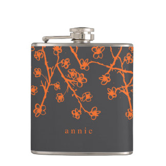 Vibrant, Modern Cherry Blossoms Flask