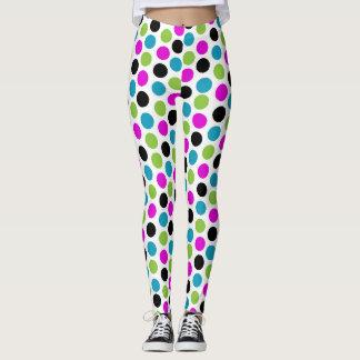 Vibrant Modern Polka Dots Leggings