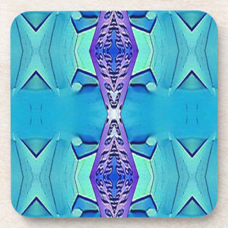 Vibrant Modern Shades Of Blue Purple Coaster