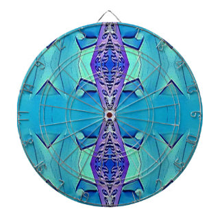 Vibrant Modern Shades Of Blue Purple Dartboard