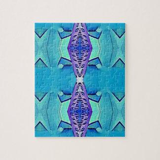 Vibrant Modern Shades Of Blue Purple Jigsaw Puzzle