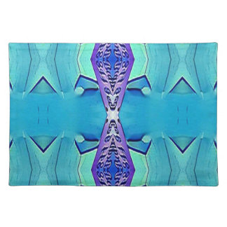 Vibrant Modern Shades Of Blue Purple Placemat