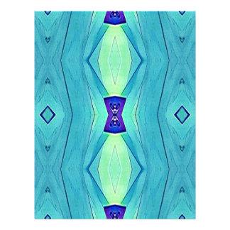 Vibrant Modern Shades Of Teal Blue Mint Custom Letterhead