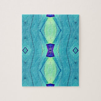 Vibrant Modern Shades Of Teal Blue Mint Jigsaw Puzzle