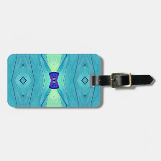 Vibrant Modern Shades Of Teal Blue Mint Luggage Tag