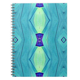 Vibrant Modern Shades Of Teal Blue Mint Notebook