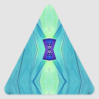 Vibrant Modern Shades Of Teal Blue Mint Triangle Sticker
