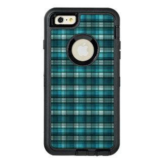 Vibrant & Modern Teal Plaid Pattern OtterBox iPhone 6/6s Plus Case