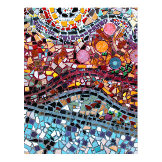 Vibrant Mosaic Wall Art Letterhead
