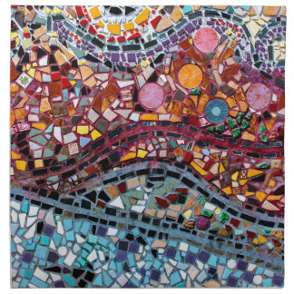 Vibrant Mosaic Wall Art Napkin