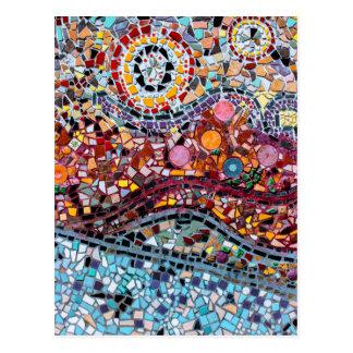 Vibrant Mosaic Wall Art Postcard