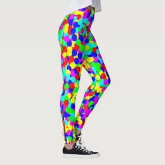 Vibrant Multi Color Ballpit Print Leggings