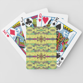 Vibrant Multi Colored Artistic Pattern Bicycle Playing Cards