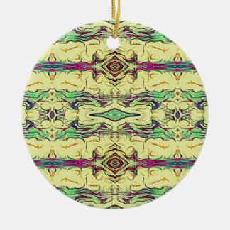 Vibrant Multi Colored Artistic Pattern Ceramic Ornament