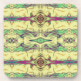 Vibrant Multi Colored Artistic Pattern Coaster