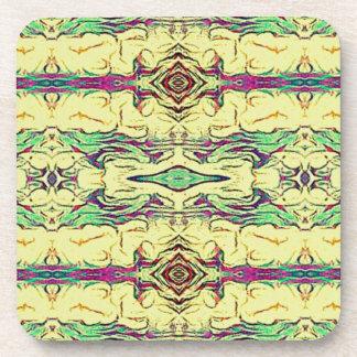 Vibrant Multi Colored Artistic Pattern Drink Coaster