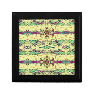 Vibrant Multi Colored Artistic Pattern Jewelry Box