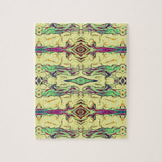 Vibrant Multi Colored Artistic Pattern Jigsaw Puzzle
