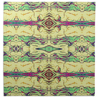 Vibrant Multi Colored Artistic Pattern Napkin
