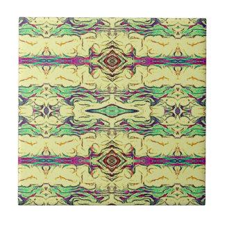 Vibrant Multi Colored Artistic Pattern Tiles