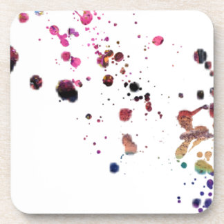 Vibrant Multi-Colored Splashes Dancing Across... Coasters