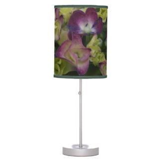 Vibrant Multicolored Hydrangea Lamp