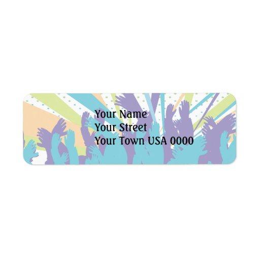 vibrant music concert party vector design custom return address label