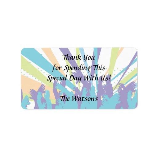 vibrant music concert party vector design custom address label