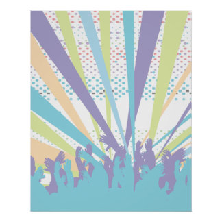 vibrant music concert party vector design poster