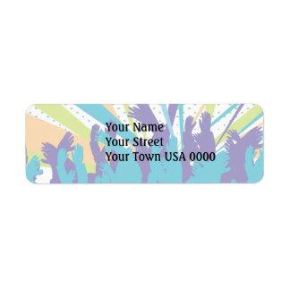 vibrant music concert party vector design return address label