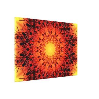 Vibrant Musical Mandala Canvas Print