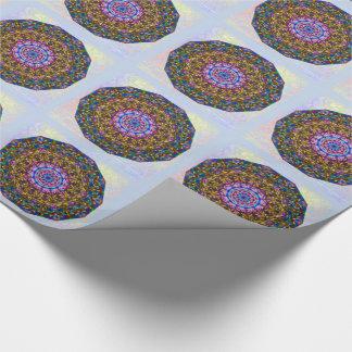 Vibrant mystic kaleidoscope tiled paper
