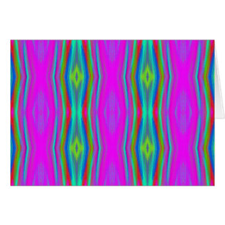 Vibrant Neon Girly Pink Teal Cool Pattern Card