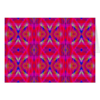Vibrant Neon Hot Pink Chic Pattern Card