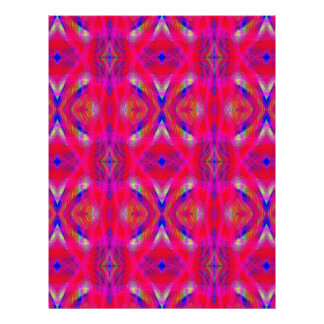 Vibrant Neon Hot Pink Chic Pattern Personalized Letterhead