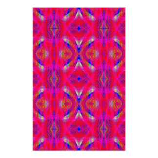 Vibrant Neon Hot Pink Chic Pattern Personalized Stationery