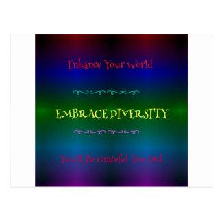 Vibrant Neon LGBTQ Embracing Diversity Postcard
