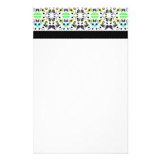 Vibrant Neon Paisley Pattern Personalized Stationery