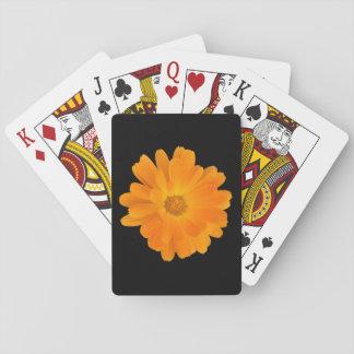 Vibrant Orange Dahlia Flower Playing Cards