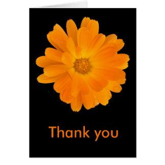 Vibrant Orange Dahlia Thank You Card