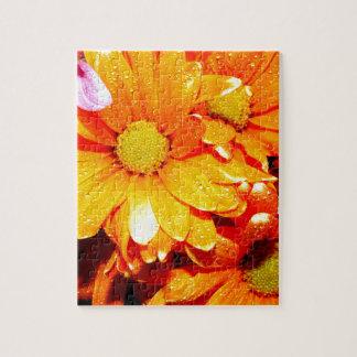 Vibrant Orange Fiore Puzzles