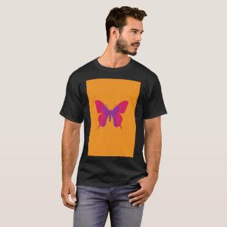 Vibrant Orange Purple Butterfly Modern T-Shirt