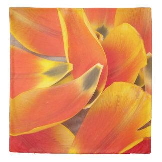 Vibrant Orange Tulip Petals Photograph Duvet Cover