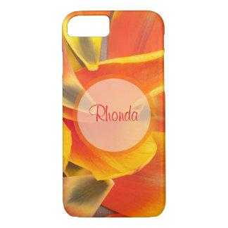 Vibrant Orange Tulip Petals Photograph iPhone 7 Case