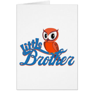 Vibrant Owl Little Brother Card